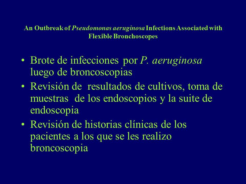 Brote de infecciones por P. aeruginosa luego de broncoscopias