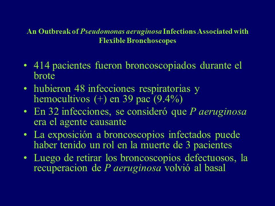 414 pacientes fueron broncoscopiados durante el brote