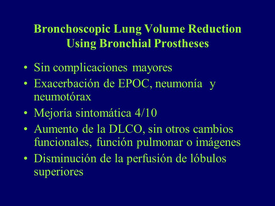 Bronchoscopic Lung Volume Reduction Using Bronchial Prostheses