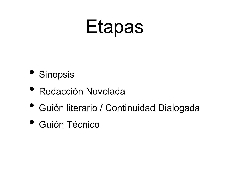 Etapas Sinopsis Redacción Novelada