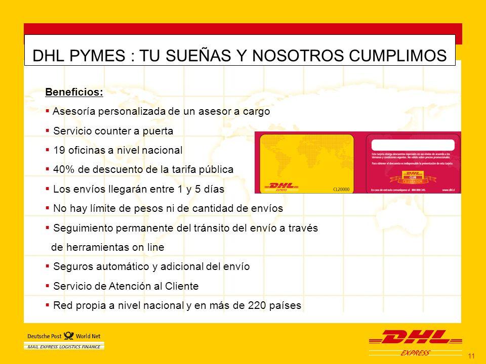 DHL PYMES : TU SUEÑAS Y NOSOTROS CUMPLIMOS