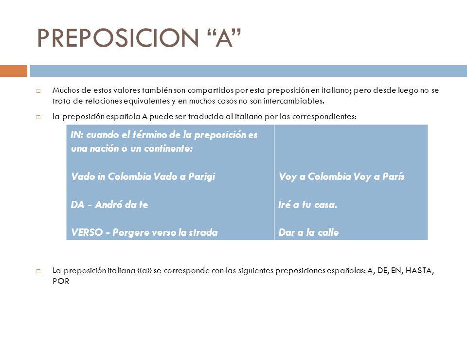 PREPOSICION A