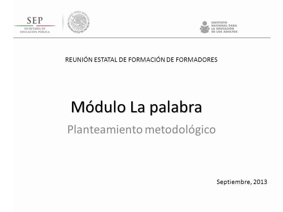 Planteamiento metodológico