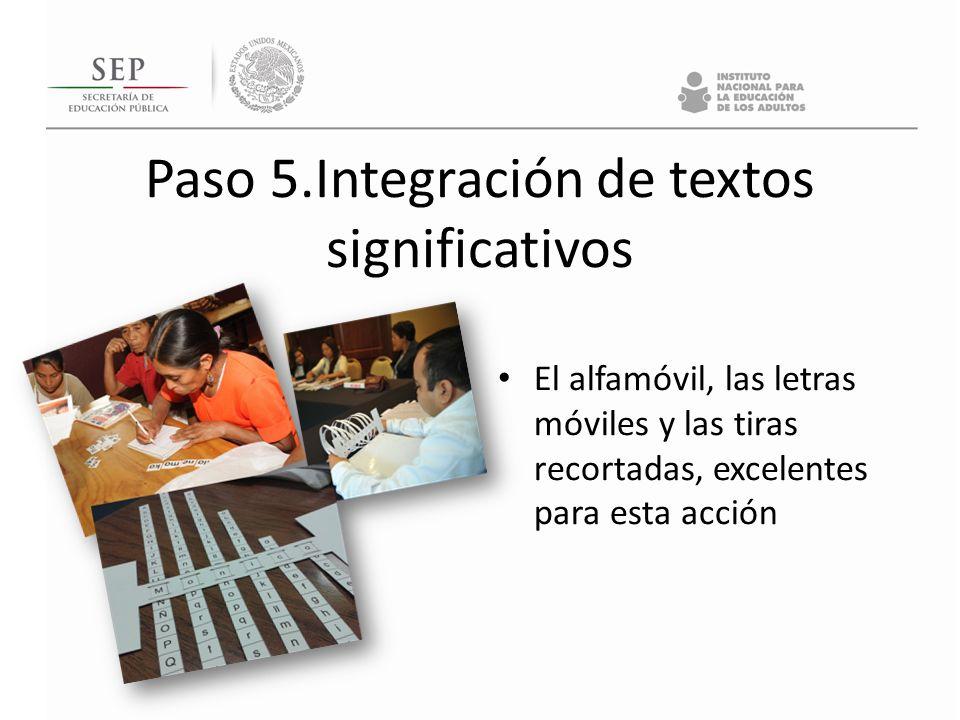 Paso 5.Integración de textos significativos