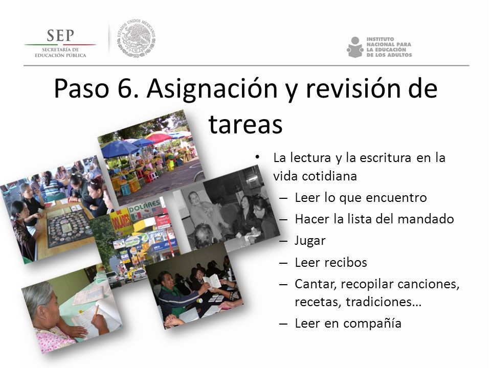 Paso 6. Asignación y revisión de tareas