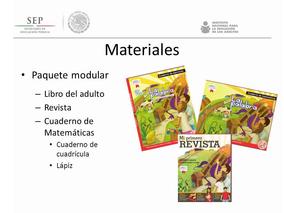 Materiales Paquete modular Libro del adulto Revista