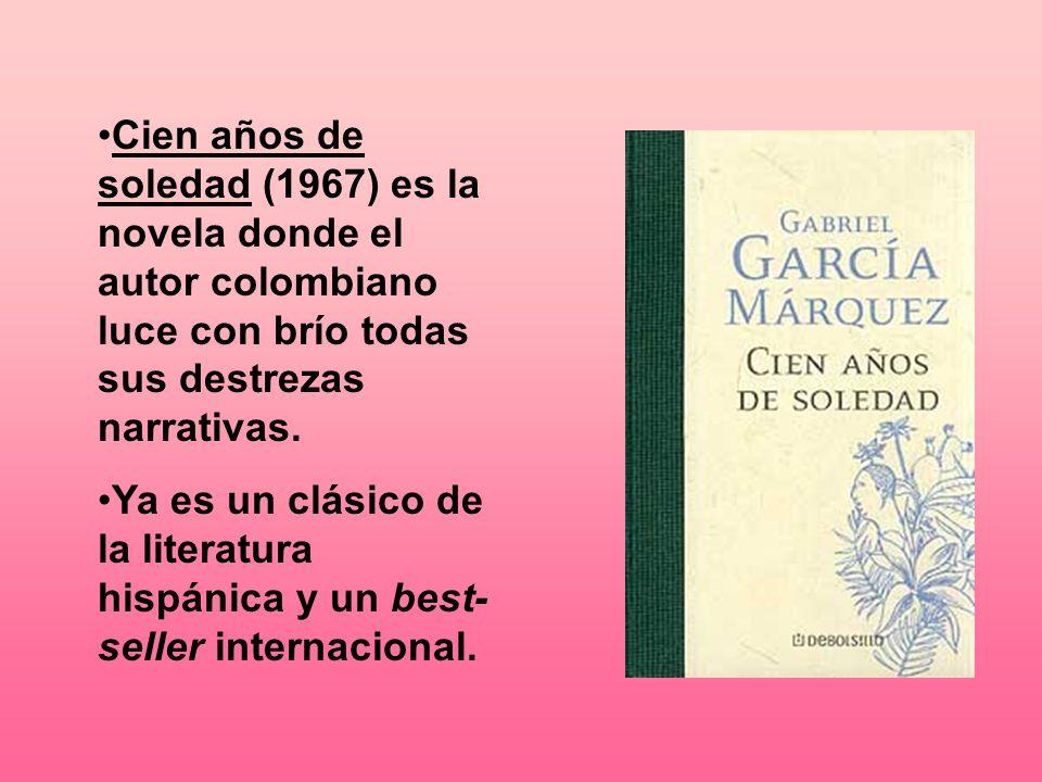 Cien años de soledad (1967) es la novela donde el autor colombiano luce con brío todas sus destrezas narrativas.