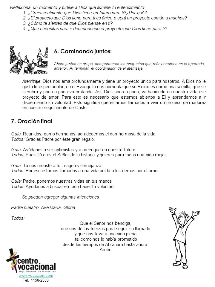 6. Caminando juntos: 7. Oración final