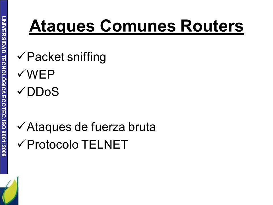 Ataques Comunes Routers