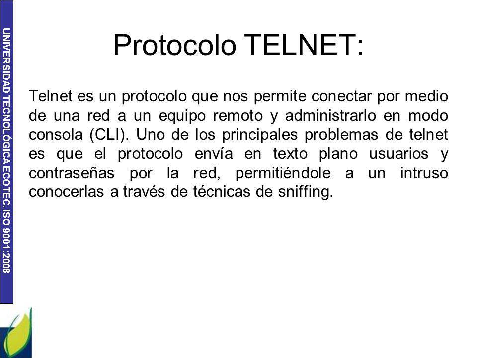 Protocolo TELNET: