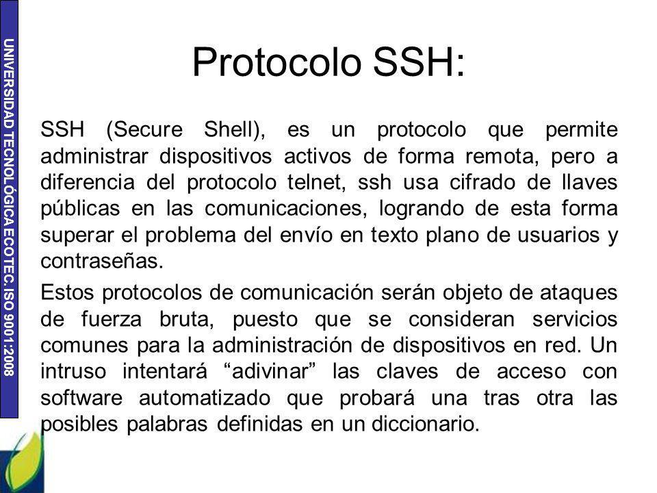 Protocolo SSH: