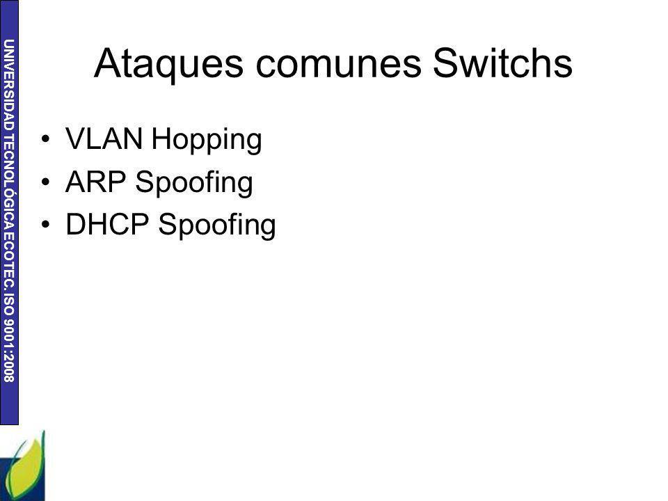Ataques comunes Switchs