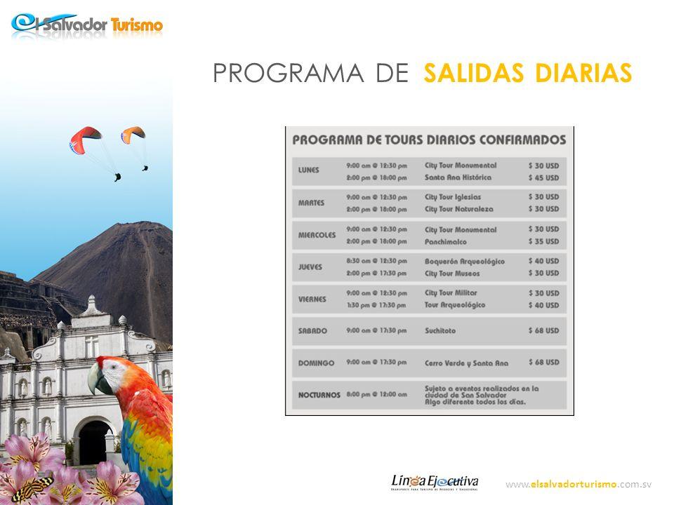 PROGRAMA DE SALIDAS DIARIAS