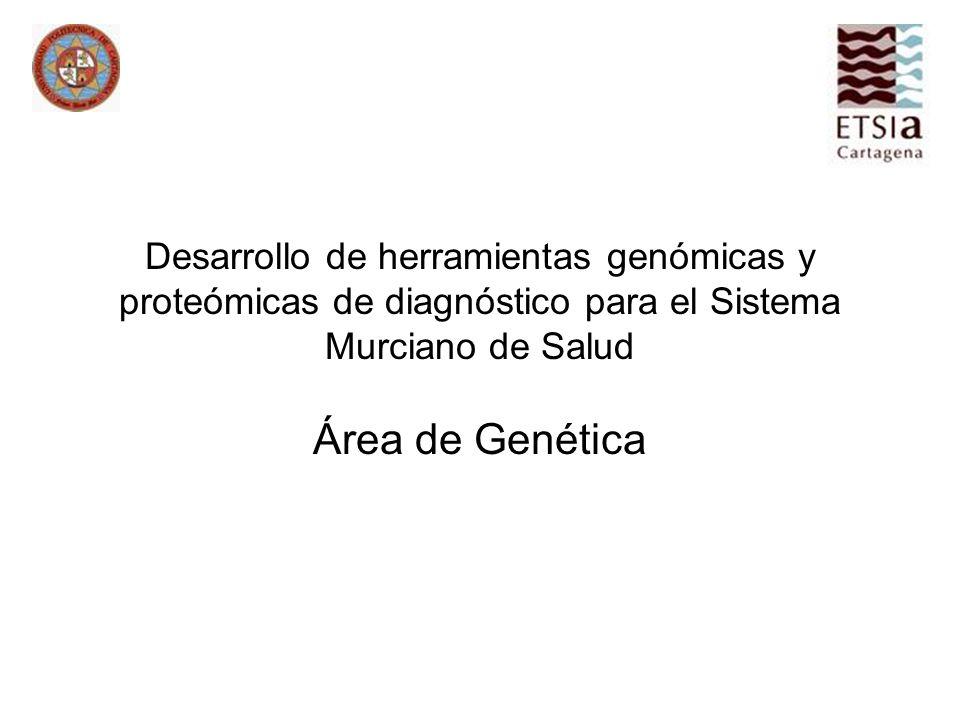 Desarrollo de herramientas genómicas y proteómicas de diagnóstico para el Sistema Murciano de Salud