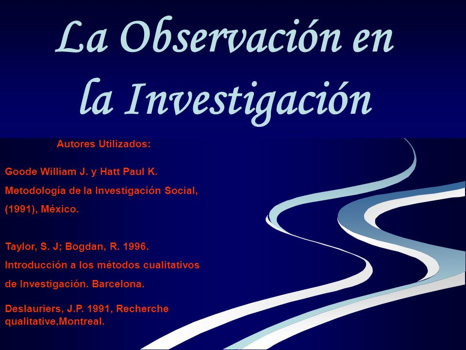 La Observación en la Investigación