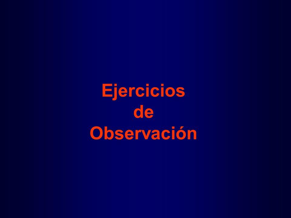 Ejercicios de Observación