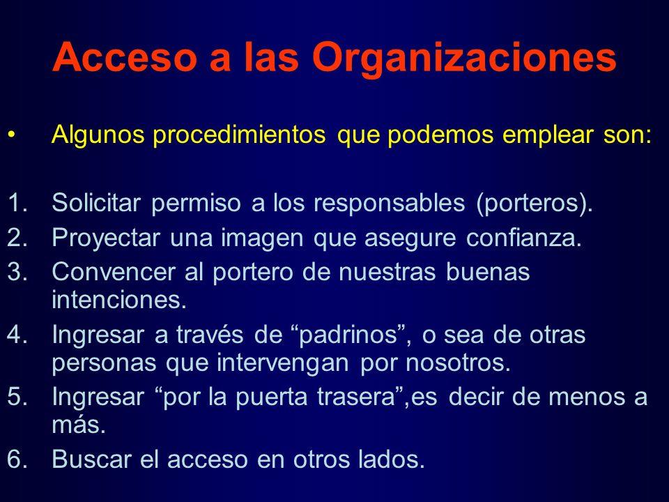 Acceso a las Organizaciones