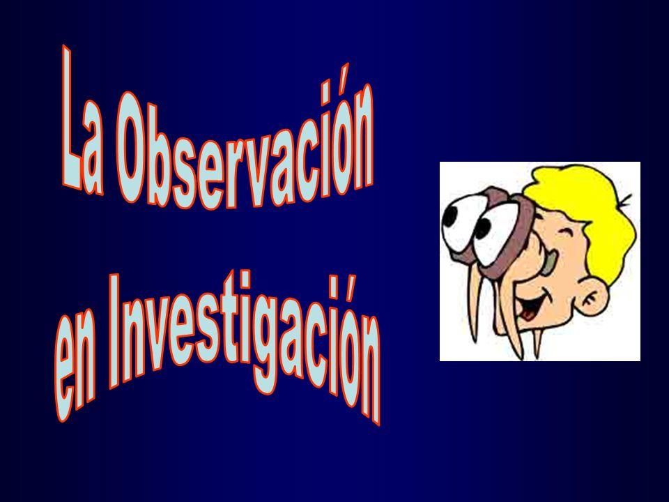 La Observación en Investigación