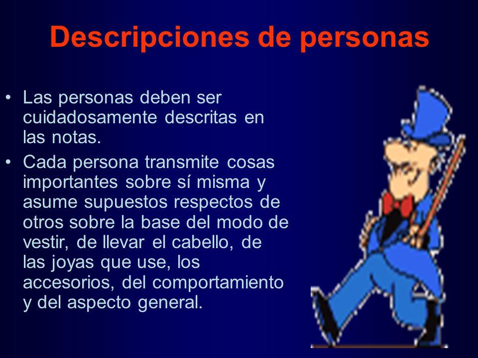 Descripciones de personas