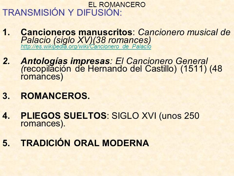 TRANSMISIÓN Y DIFUSIÓN: