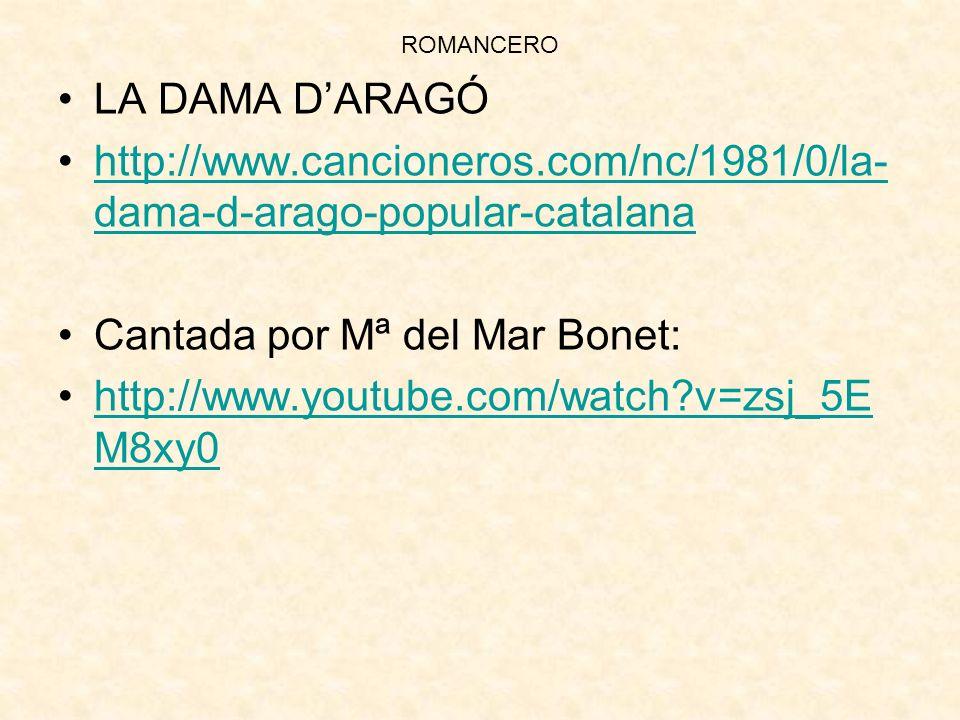 Cantada por Mª del Mar Bonet: