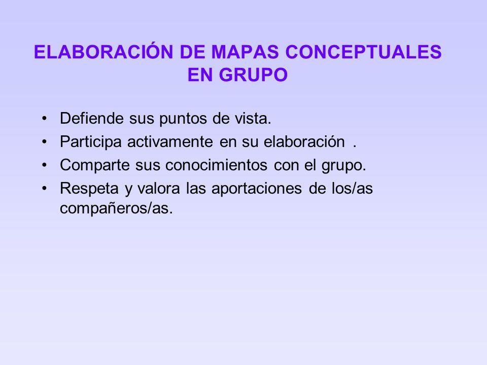 ELABORACIÓN DE MAPAS CONCEPTUALES EN GRUPO