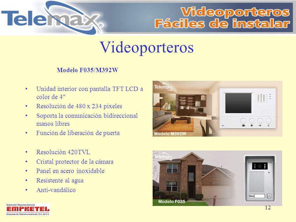 Videoporteros Modelo F035/M392W