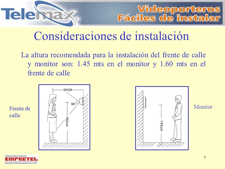 Consideraciones de instalación