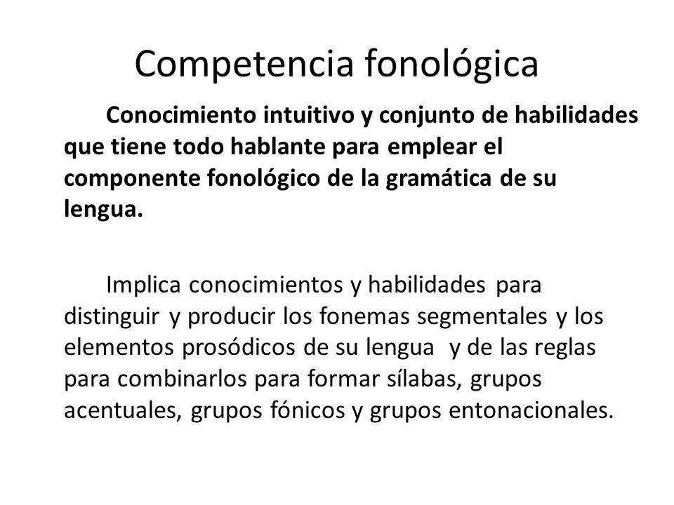 Competencia fonológica
