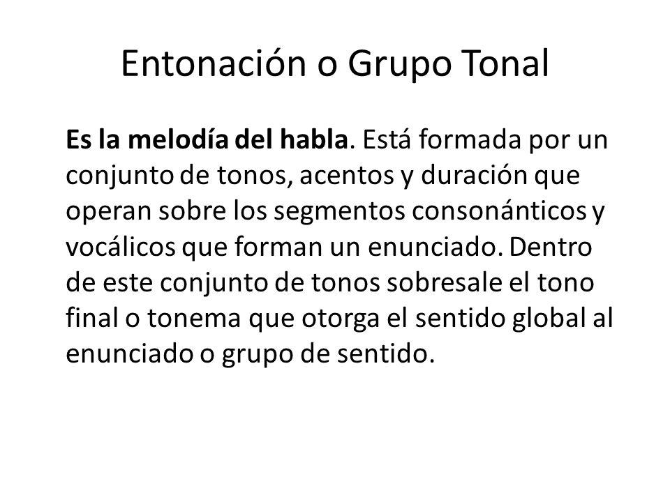 Entonación o Grupo Tonal