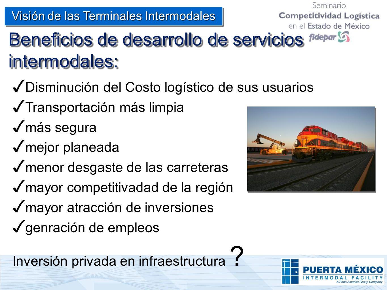 Beneficios de desarrollo de servicios intermodales: