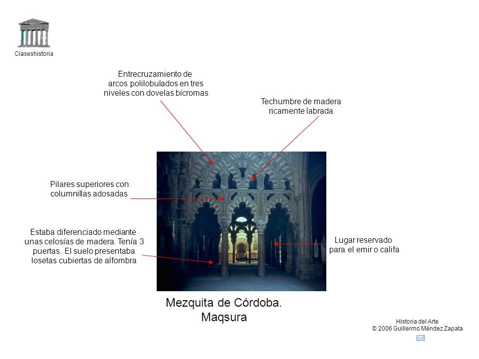 Mezquita de Córdoba. Maqsura Entrecruzamiento de