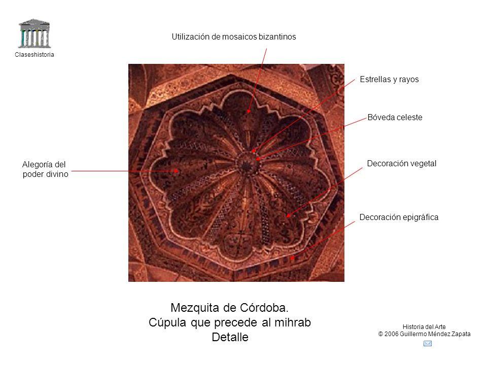 Cúpula que precede al mihrab Detalle
