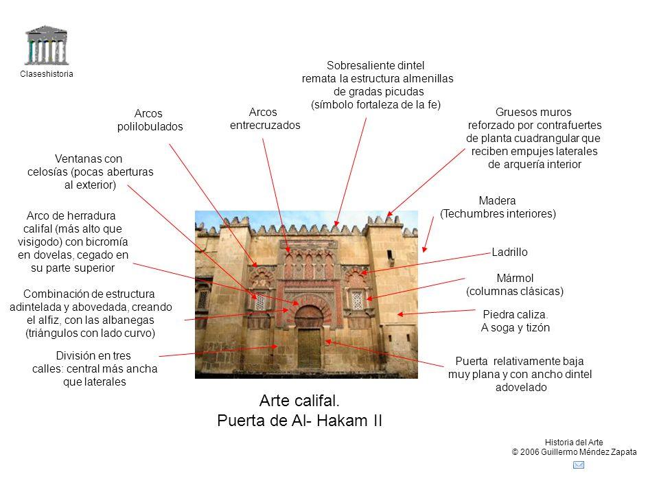 Arte califal. Puerta de Al- Hakam II Sobresaliente dintel