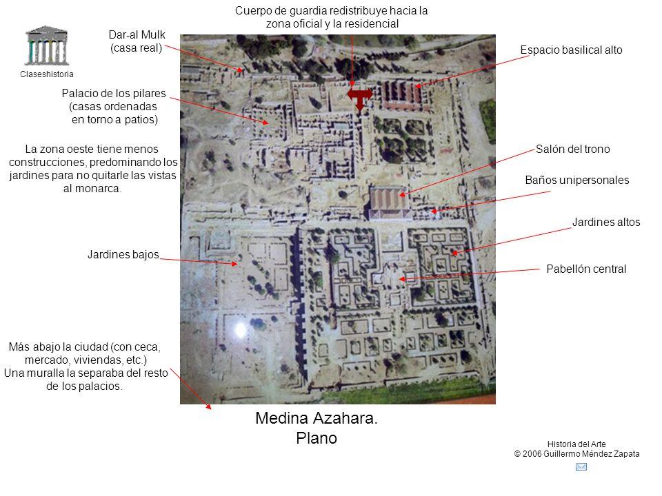 Medina Azahara. Plano Cuerpo de guardia redistribuye hacia la
