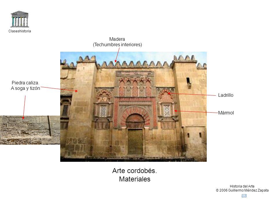 Arte cordobés. Materiales Madera (Techumbres interiores)