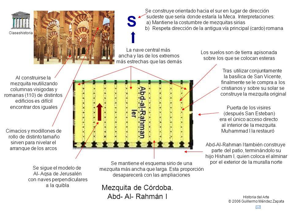 S Mezquita de Córdoba. Abd- Al- Rahmán I