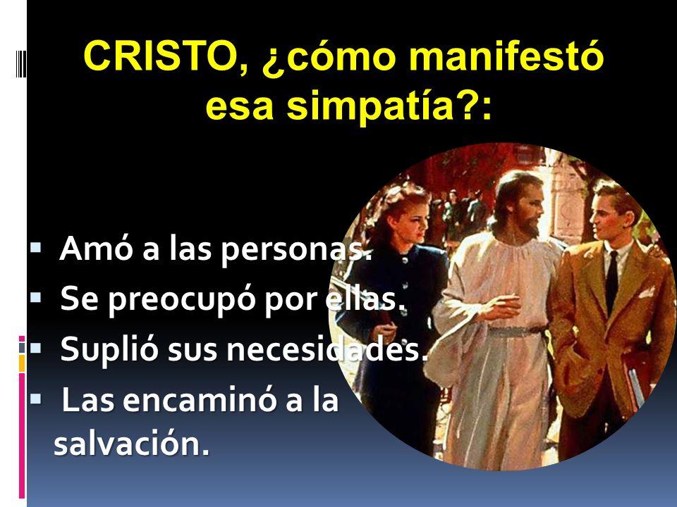 CRISTO, ¿cómo manifestó