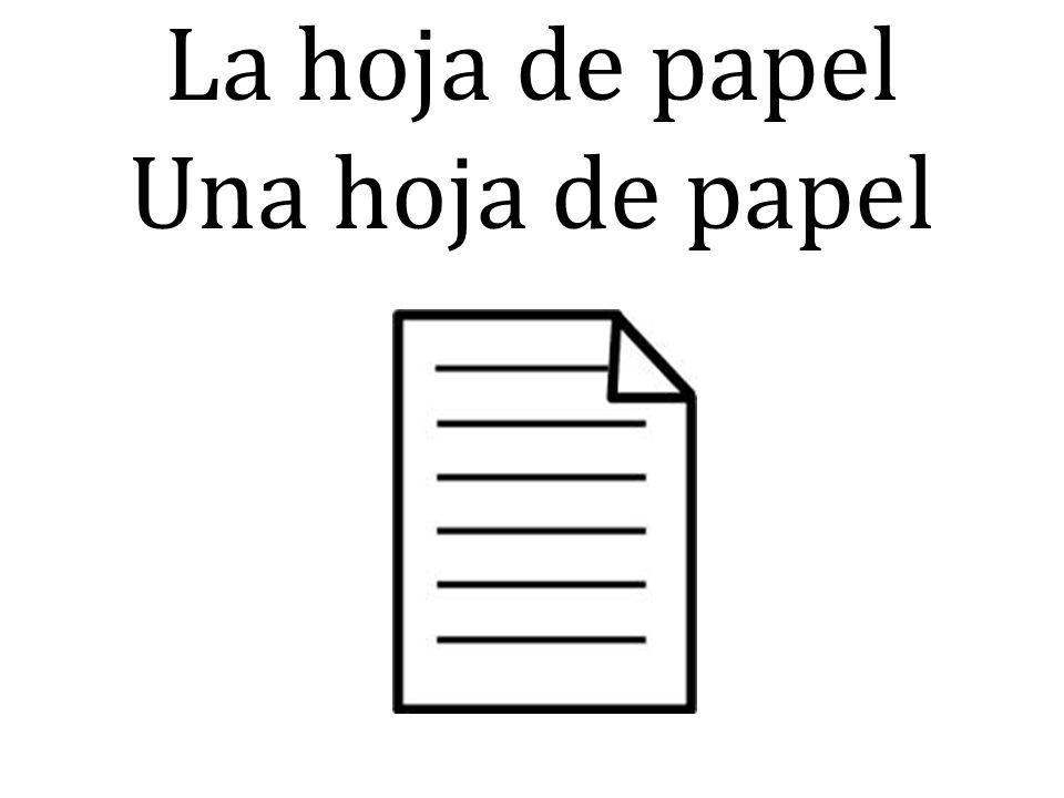 La hoja de papel Una hoja de papel