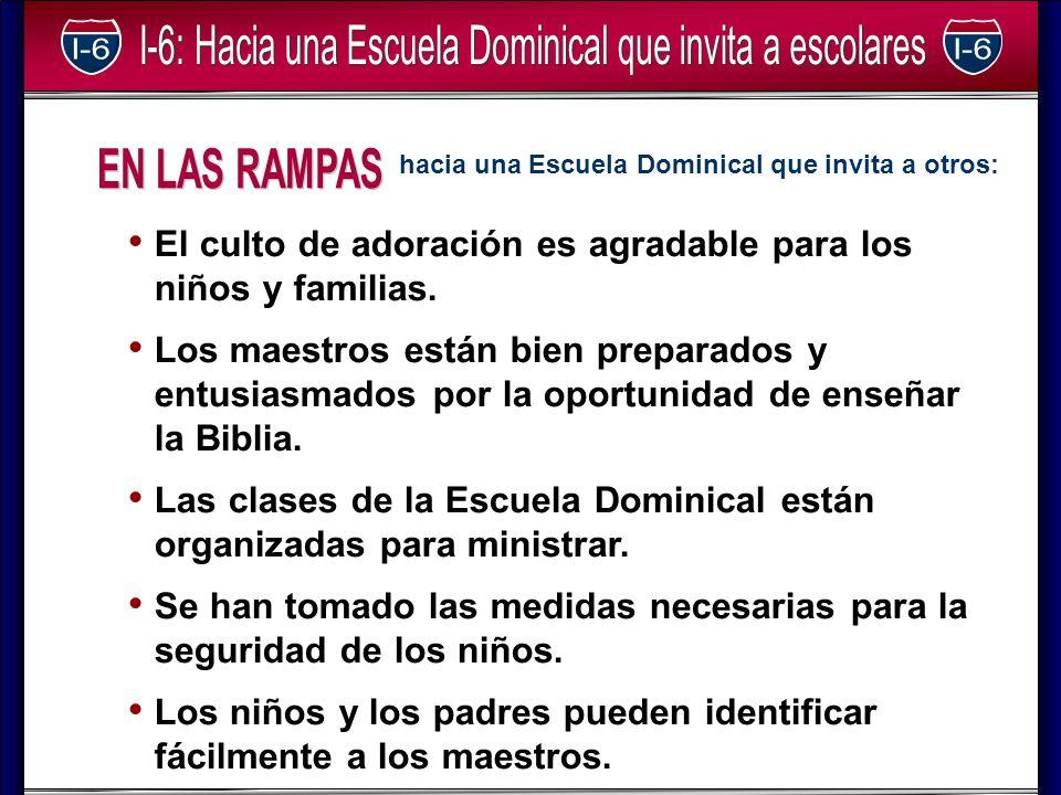 EN LAS RAMPAS hacia una Escuela Dominical que invita a otros: El culto de adoración es agradable para los niños y familias.