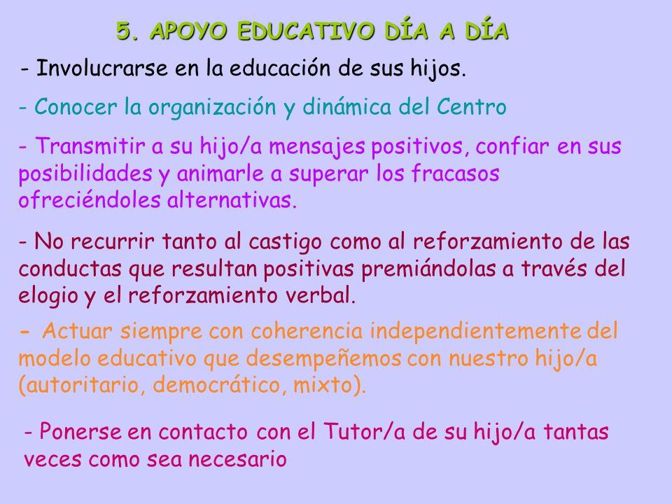 5. APOYO EDUCATIVO DÍA A DÍA