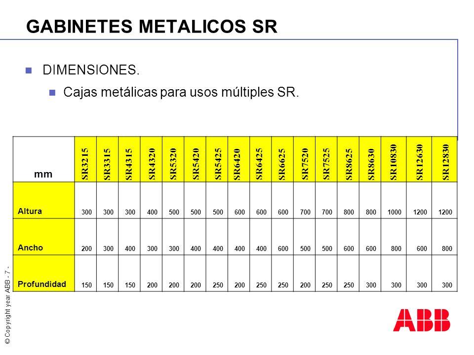 GABINETES METALICOS SR
