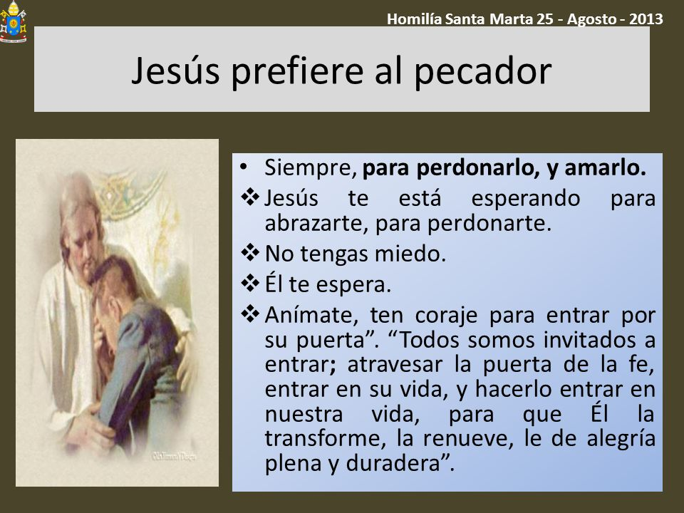 Jesús prefiere al pecador