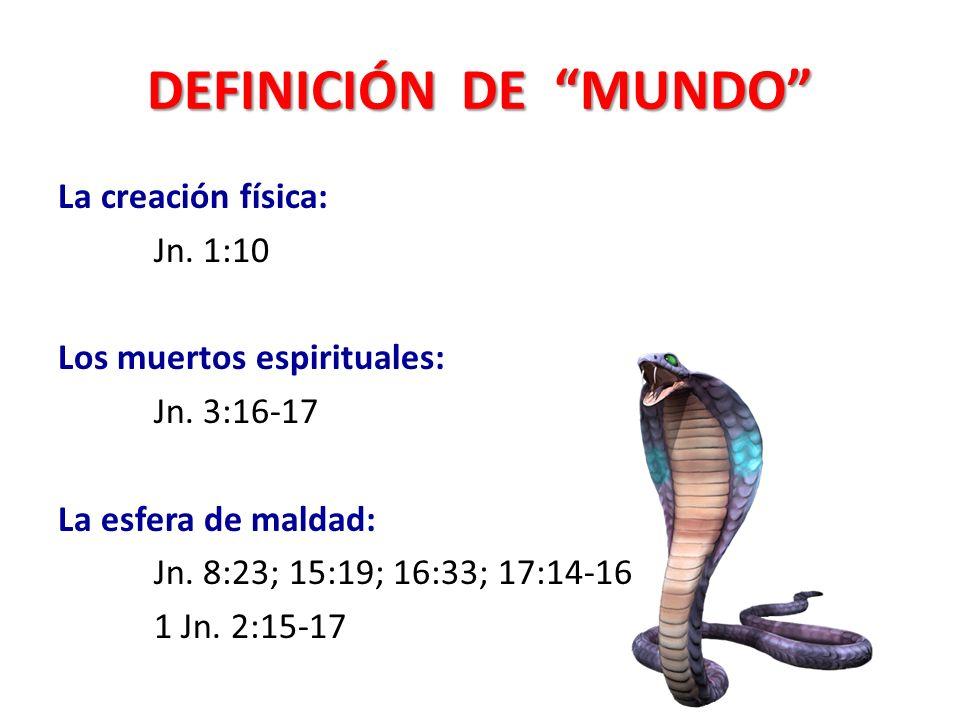 DEFINICIÓN DE MUNDO