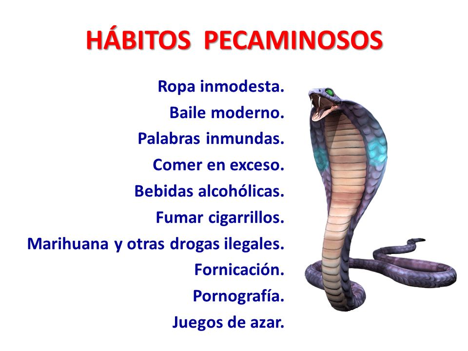 HÁBITOS PECAMINOSOS