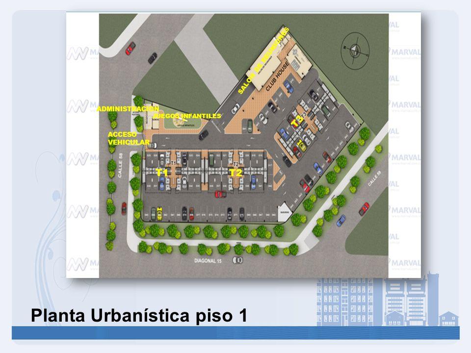 Planta Urbanística piso 1