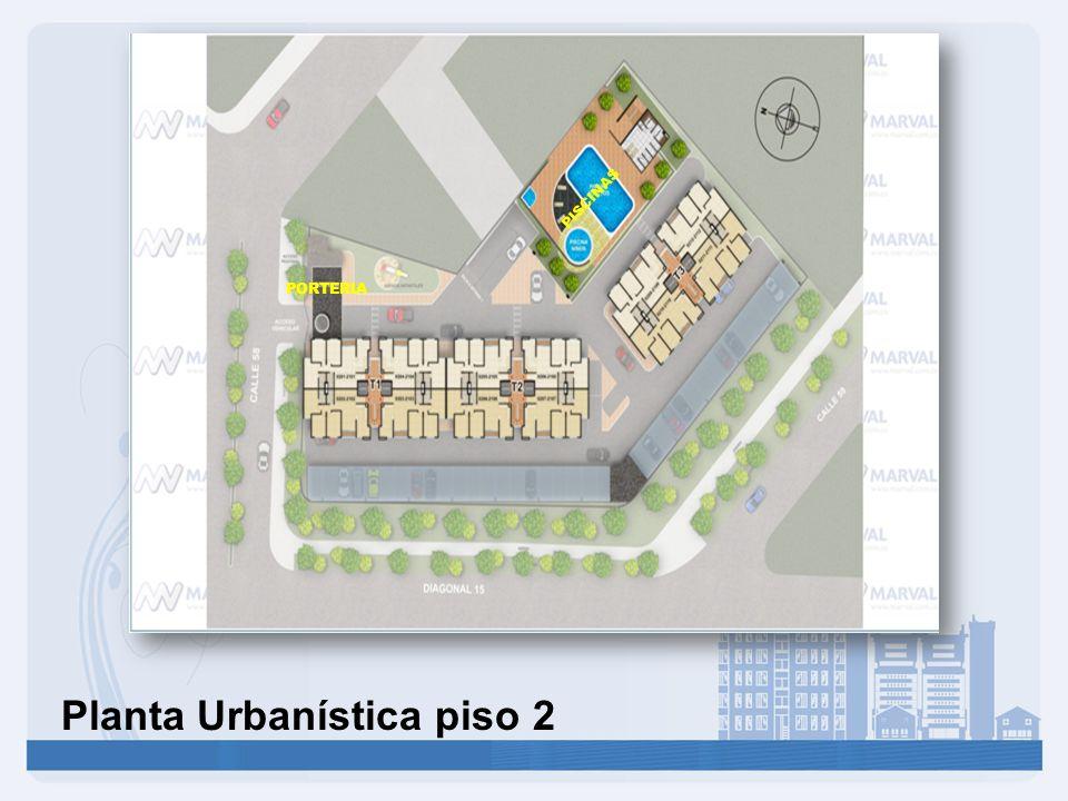 Planta Urbanística piso 2