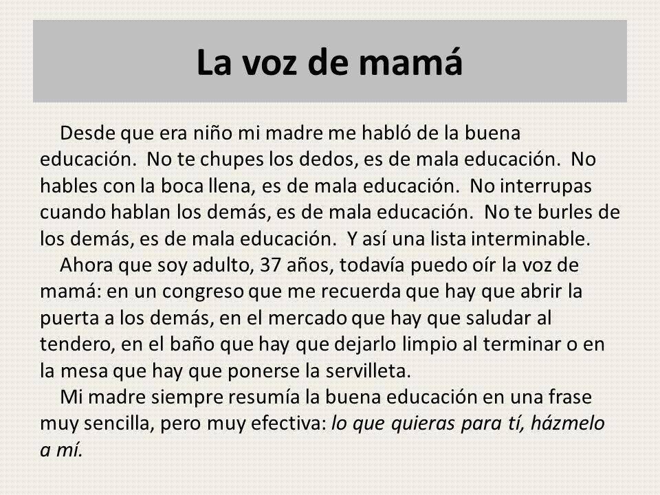 La voz de mamá