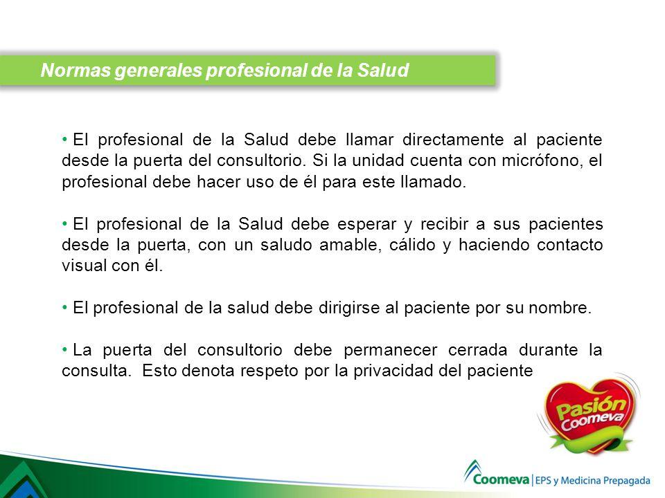 Normas generales profesional de la Salud