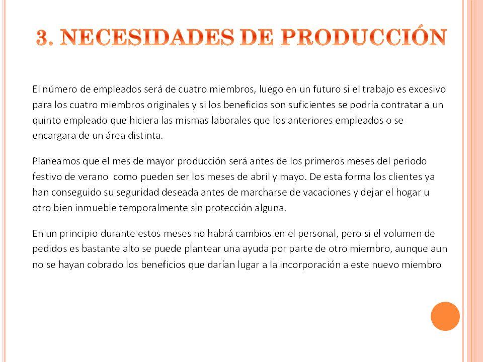 3. NECESIDADES DE PRODUCCIÓN